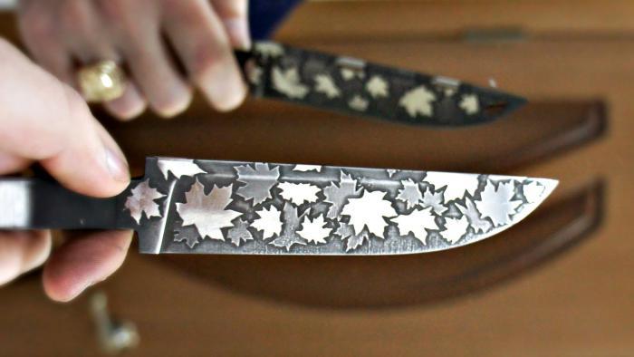 Многослойное травление ножа своими руками
