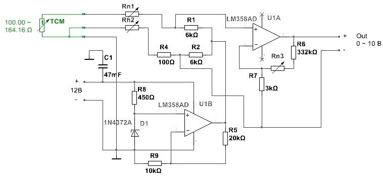 Трехпроводная схема подключения датчика
