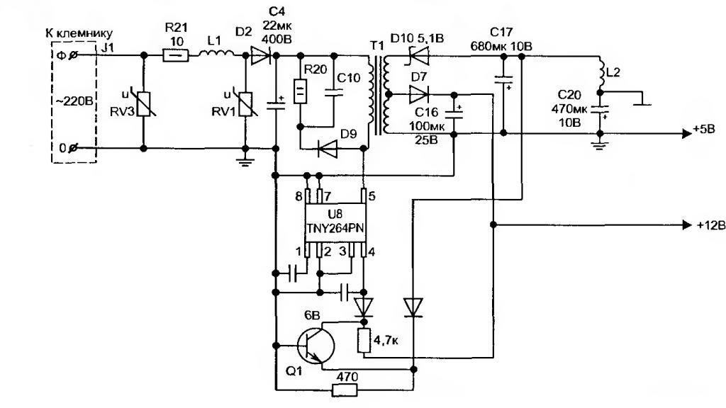 Электромонтажная схема модуля evo-ii