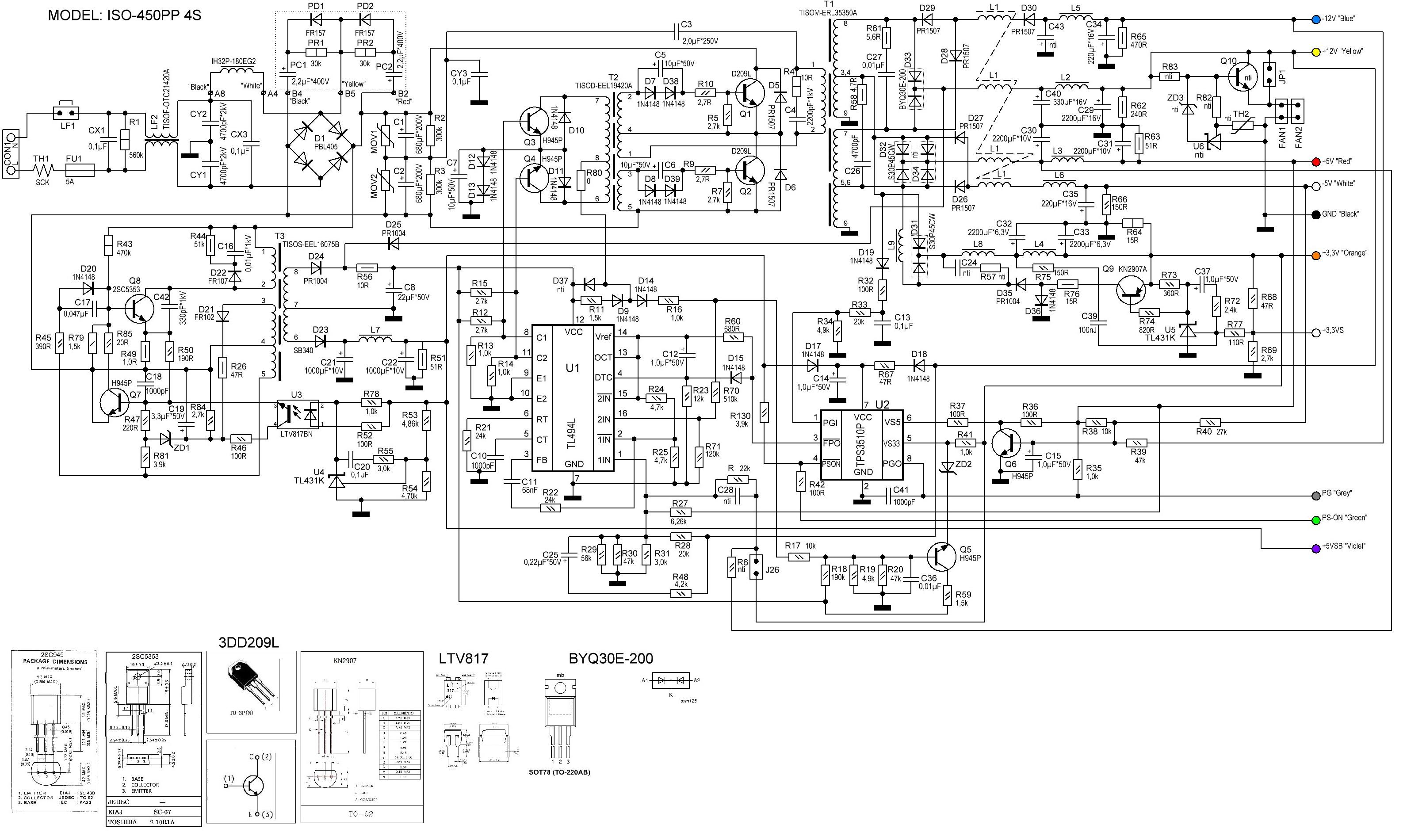Схема переделки компьютерного блока питания atx в регулируемый блок питания
