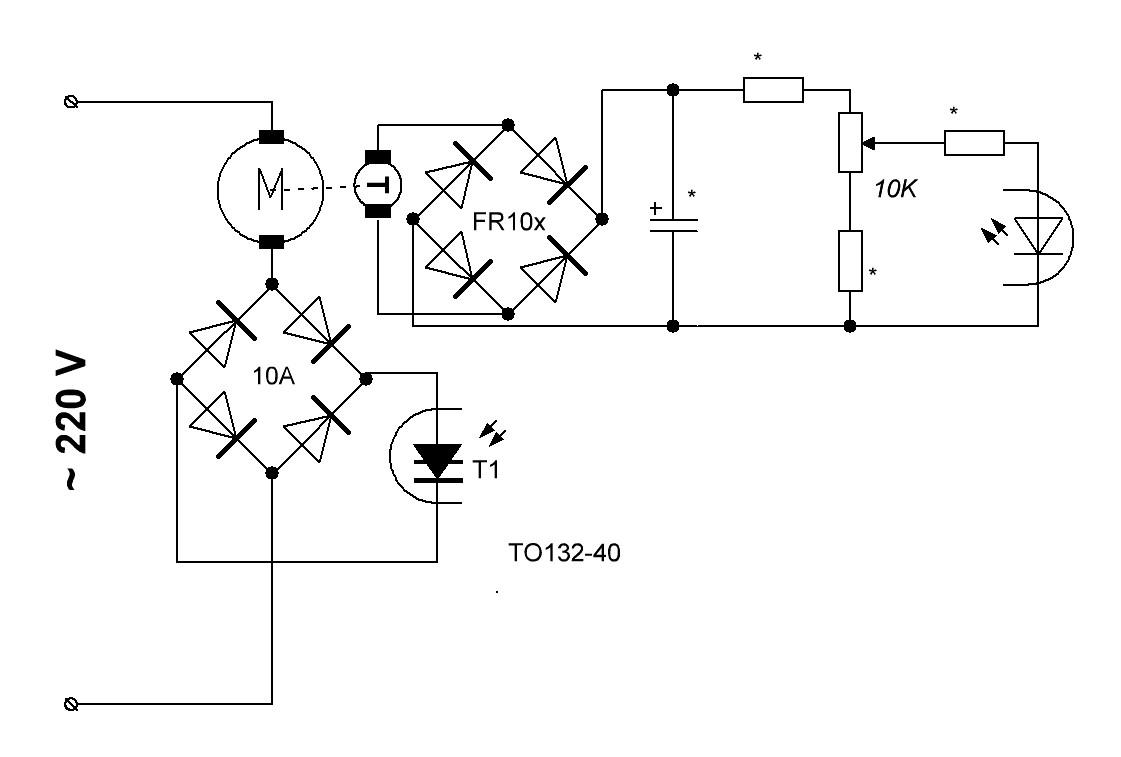 Схема включения то132 40 10