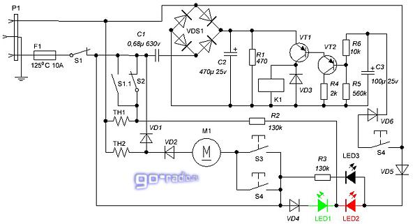 Схема электрическая принципиальная термопота maxwell mw-1751w
