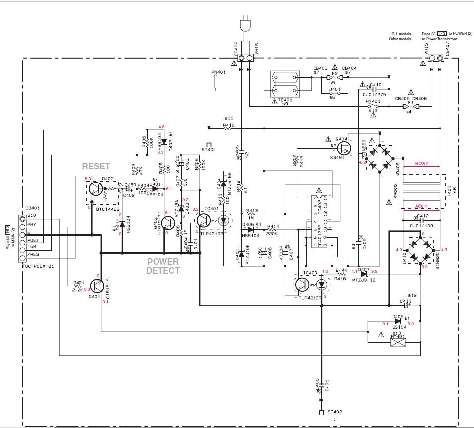 Блок питания для триколор gs 8300 схема