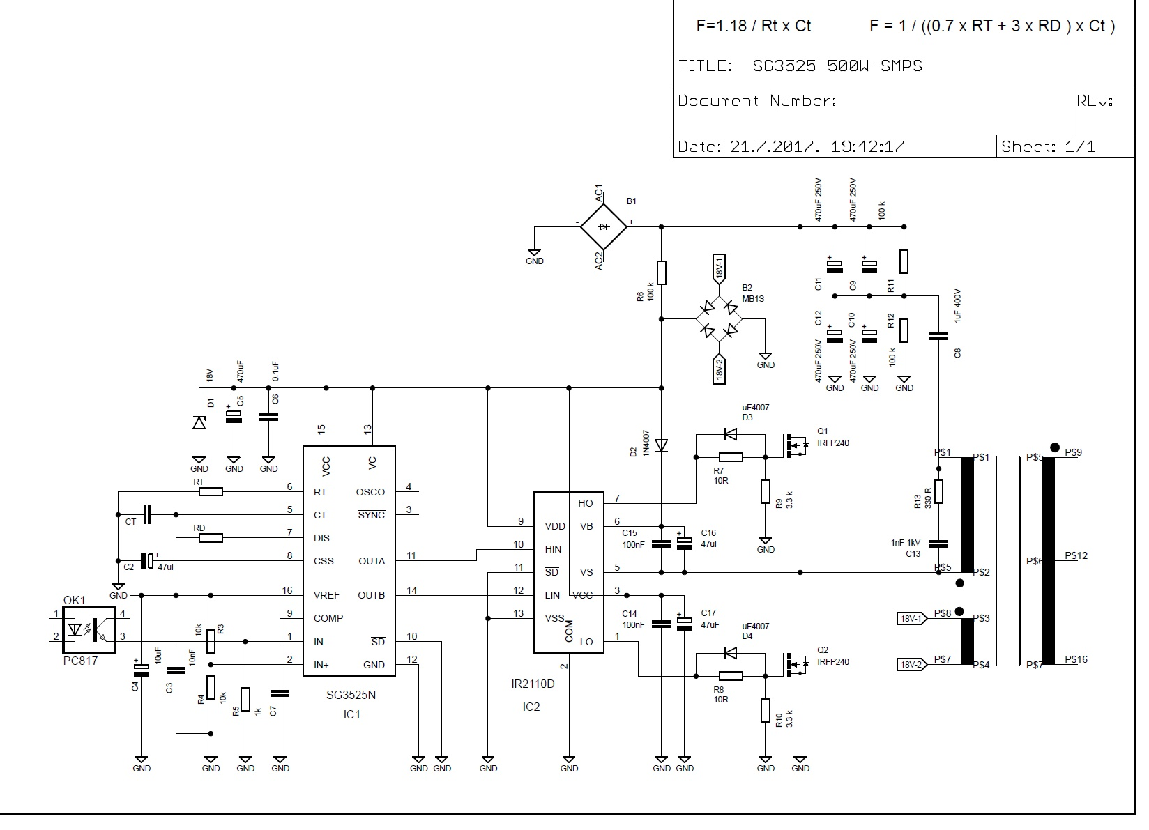 Nenad Grujic Smps Circuit Diagram Using Mosfet Some Have Snubber On That Fet One Use Diode And Also Not Nothing What Is The Best Options For Long Stable Work