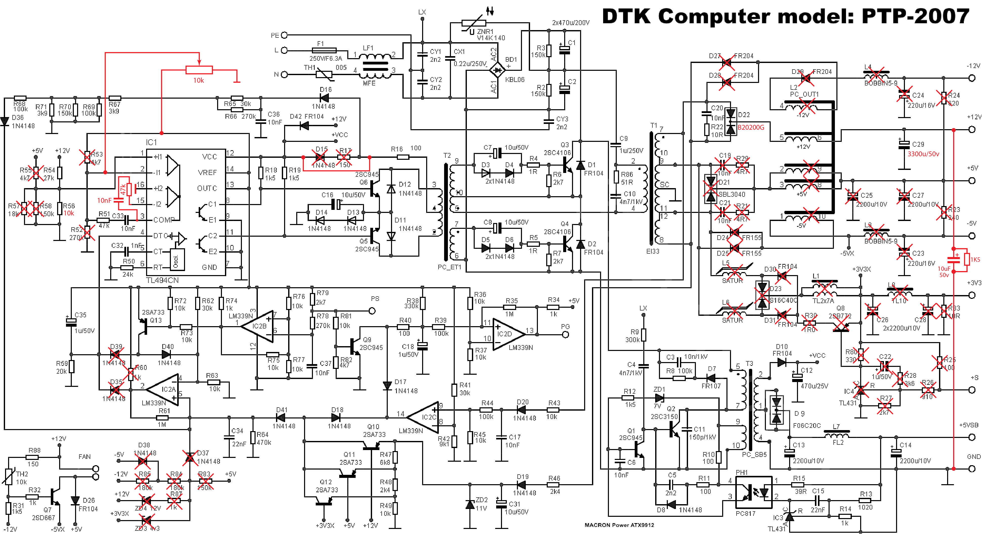 Circuit Diagram Atx Smps Power Supply Image.