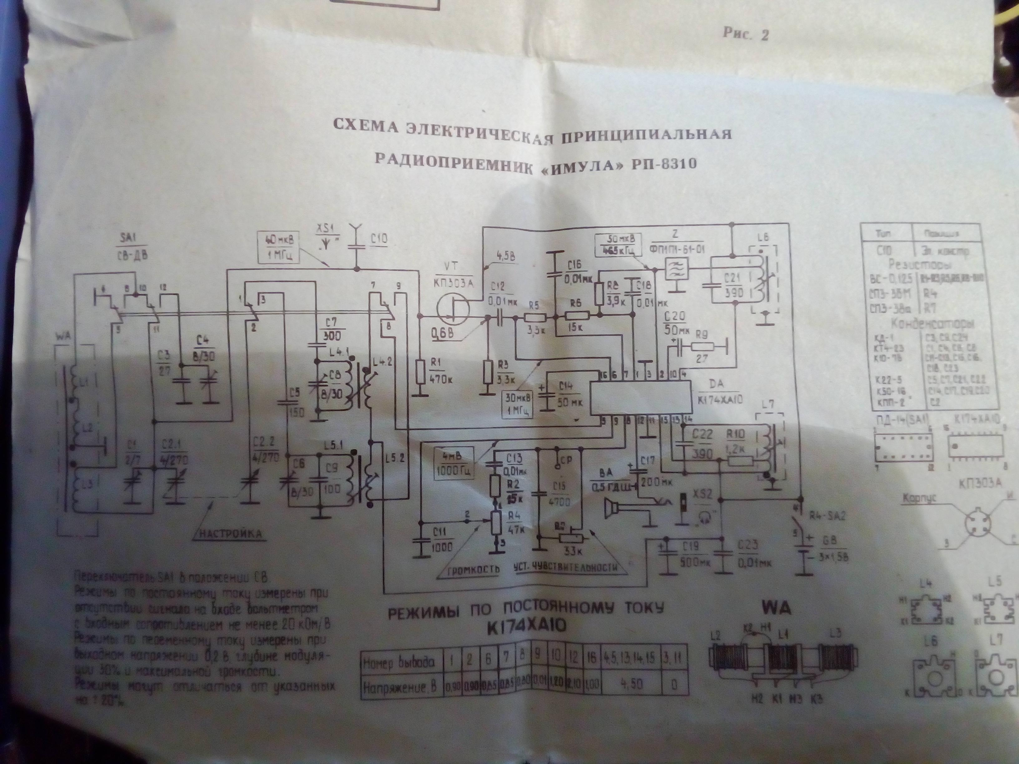 Радиоприемник имула схема