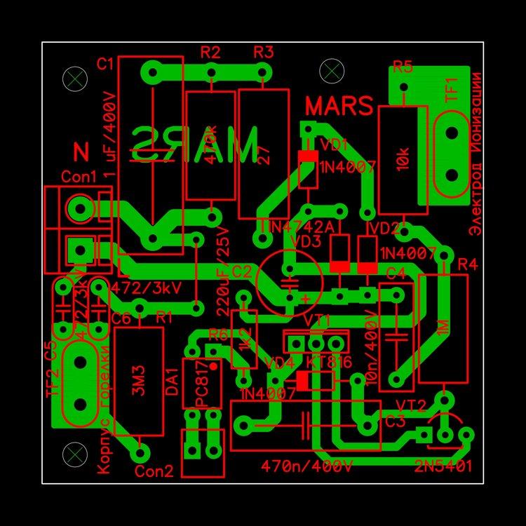 Контроль наличия пламени на PC817 Плата.JPG