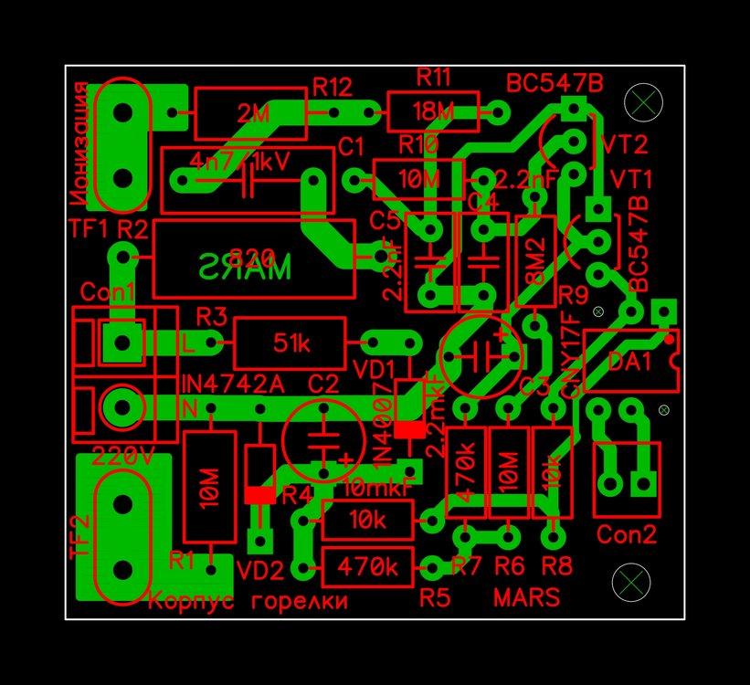 Контроль наличия пламени (Ионизация) на CNY-17 печатная плата 2.JPG