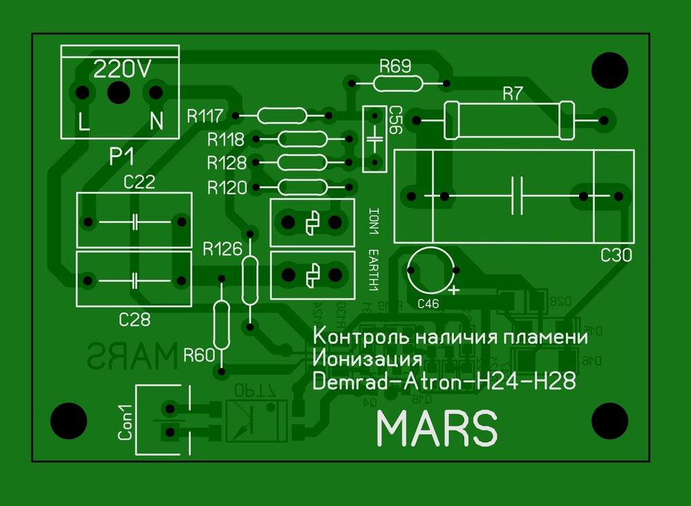 Контроль наличия пламени (Ионизация)Demrad Atron H24-H28 Плата 2.JPG