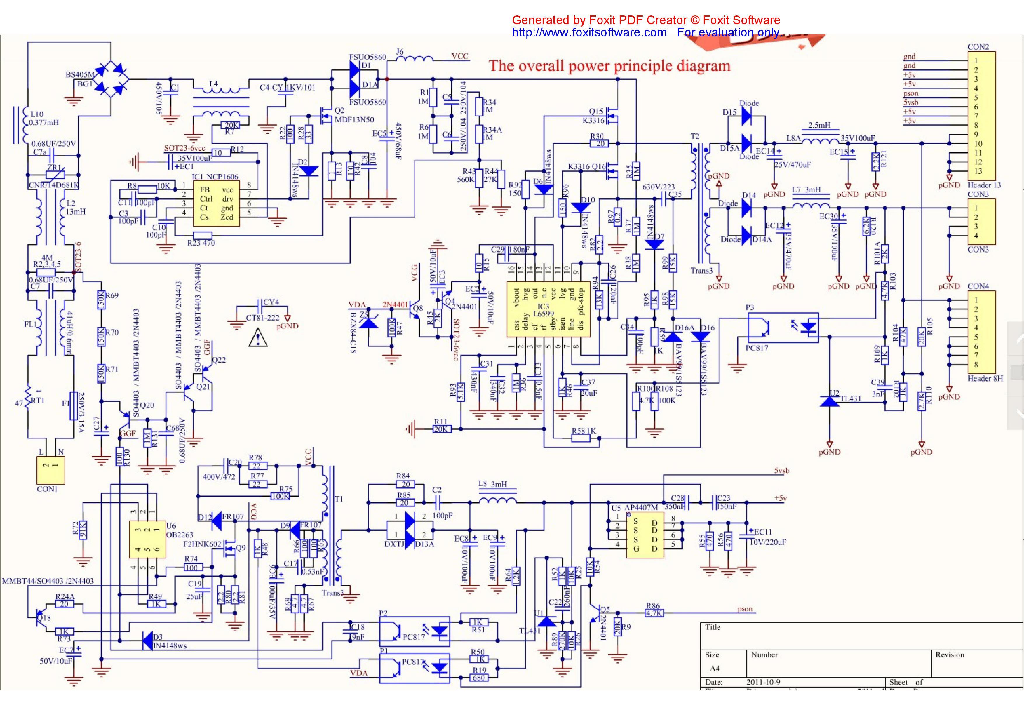 Схема блока питания на ob2263