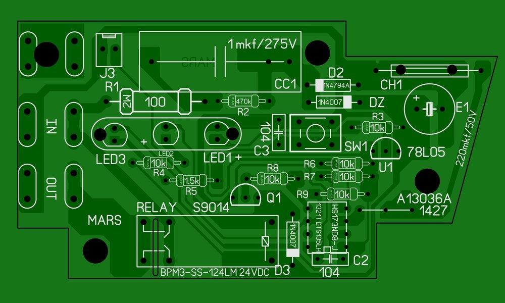 Вектор ВКД-3Р Реле давления с защитой по сухому ходу плата.JPG