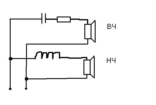Колонки двухполосные схема