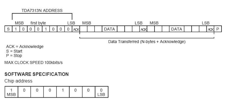 Tda7300 схема включения