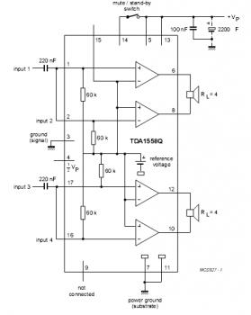 Вот и для изготовления УНЧ стали выпускать... усилителя на TDA1558. с выходной мощностью 11 Вт, или 22 Вт при 2-х