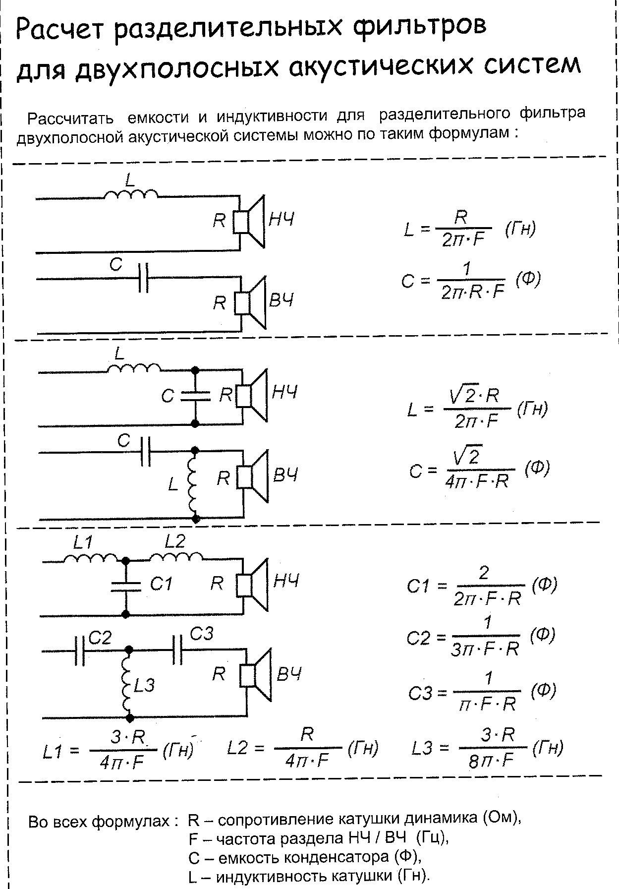 Фильтр второго порядка для вч динамика своими руками 99