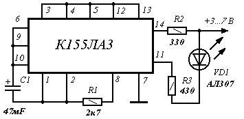 К155ла3 пищалка схема