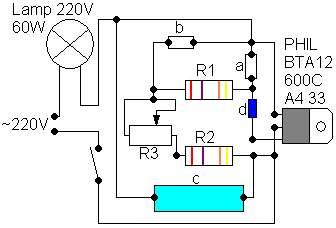 Схема включения bta12-600