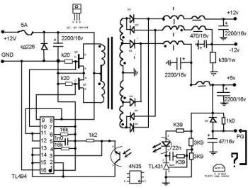 Вот схемка, сам не пробывал, микросхема берется от старого БП компьютера.